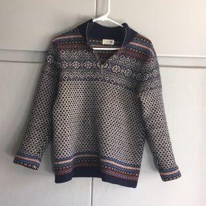 LL Bean ¼ zip wool sweater